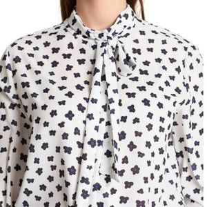 BNWT Marc Cain floral blouse with sash tie